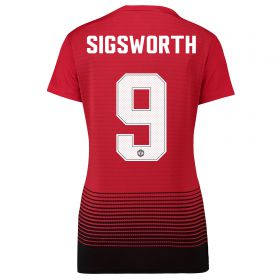 Manchester United Home Cup Shirt 2018-19 - Womens with Sigsworth 9 printing