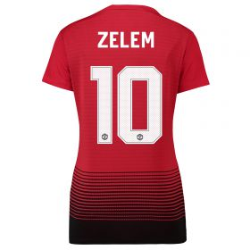 Manchester United Home Cup Shirt 2018-19 - Womens with Zelem 10 printing
