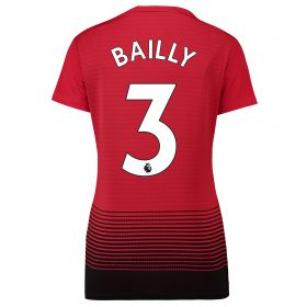Manchester United Home Shirt 2018-19 - Womens with Bailly 3 printing
