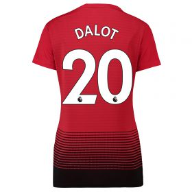 Manchester United Home Shirt 2018-19 - Womens with Dalot TBC printing