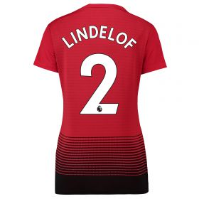 Manchester United Home Shirt 2018-19 - Womens with Lindelof 2 printing