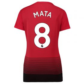 Manchester United Home Shirt 2018-19 - Womens with Mata 8 printing