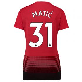 Manchester United Home Shirt 2018-19 - Womens with Matic 31 printing