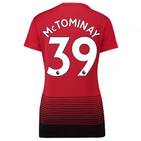 Manchester United Home Shirt 2018-19 - Womens with McTominay 39 printing