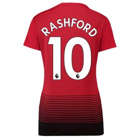 Manchester United Home Shirt 2018-19 - Womens with Rashford 19 printing
