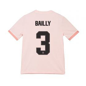 Manchester United Away Cup Shirt 2018-19 - Kids with Bailly 3 printing