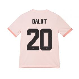 Manchester United Away Cup Shirt 2018-19 - Kids with Dalot 20 printing