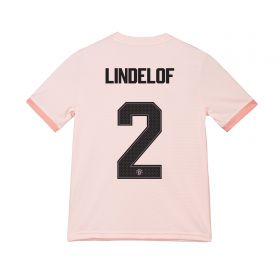 Manchester United Away Cup Shirt 2018-19 - Kids with Lindelof 2 printing