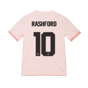 Manchester United Away Cup Shirt 2018-19 - Kids with Rashford 10 printing