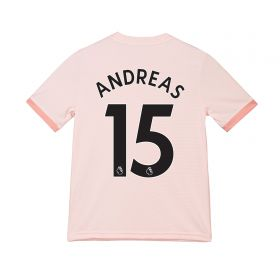Manchester United Away Shirt 2018-19 - Kids with Andreas 15 printing