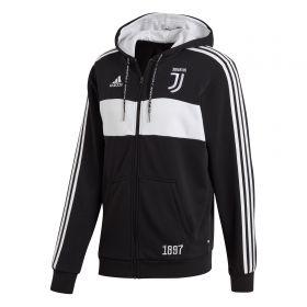 Juventus Full Zip Hoodie - Black