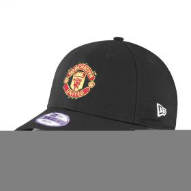 Manchester United New Era Basic 9FORTY Adjustable Cap - Black - Kids