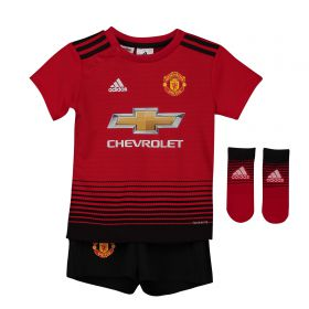 Manchester United Home Baby Kit 2018-19 with Lukaku 9 printing