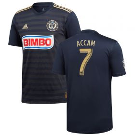 Philadelphia Union Home Shirt 2018 with Accam 7 printing
