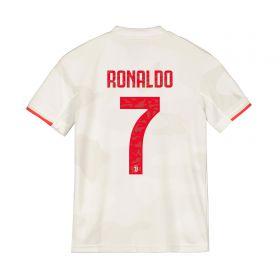 Juventus Away Shirt 2019-20 - Kids with Ronaldo 7 printing