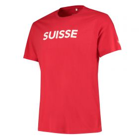 Nations League Swiss Flag T-Shirt - Game Red - Mens