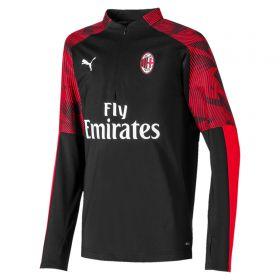 AC Milan 1/4 Zip Training Top - Black - Kids