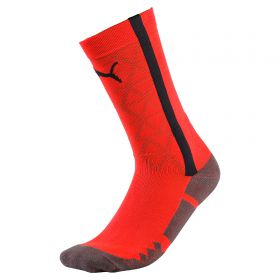 Puma EvoTRAINING Sock - Fiery Coral/Ebony