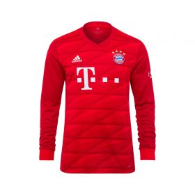 FC Bayern Home Long Sleeve Shirt 2019-20 - Kids