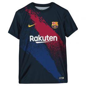 Barcelona Pre Match Training Top - Dk Blue - Kids