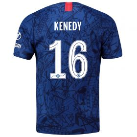 Chelsea Home Cup Stadium Shirt 2019-20 with Kenedy 16 printing