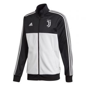 Juventus 3 Stripe Track Top - Black