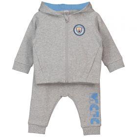 Manchester City Baby Jogsuit - Grey Marl -Boy