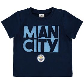 Manchester City Infant Split Man City T Shirt - Navy - Boys