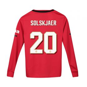 Manchester United Cup Home Shirt 2019 - 20 - Kids - Long Sleeve with Solskjaer 20 printing
