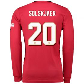 Manchester United Cup Home Shirt 2019 - 20 - Long Sleeve with Solskjaer 20 printing