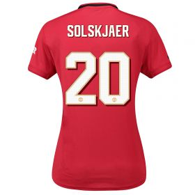 Manchester United Cup Home Shirt 2019 - 20 - Womens with Solskjaer 20 printing