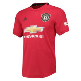 Manchester United Home Authentic Shirt 2019 - 20 with Solskjaer 20 printing