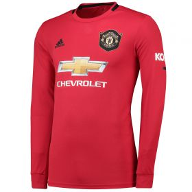 Manchester United Home Shirt 2019 - 20 - Long Sleeve with Solskjaer 20 printing