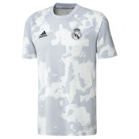 Real Madrid Pre Match Shirt - White/Grey - Kids