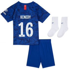 Chelsea Home Cup Stadium Kit 2019-20 - Infants with Kenedy 16 printing