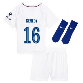 Chelsea Away Cup Stadium Kit 2019-20 - Infants with Kenedy 16 printing
