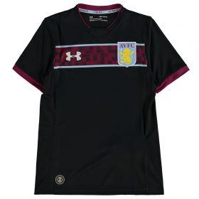 Aston Villa Away Shirt 2017-18 - Kids with Green 19 printing