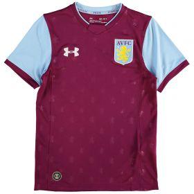 Aston Villa Home Shirt 2017-18 - Kids with Agbonlahor 11 printing
