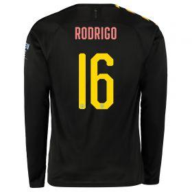 Manchester City Cup Away Shirt 2019-20 - Long Sleeve with Rodrigo 16 printing