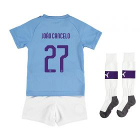 Manchester City Cup Home Mini Kit 2019-20 with João Cancelo 27 printing