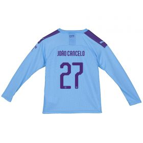 Manchester City Cup Home Shirt 2019-20 - Long Sleeve - Kids with João Cancelo 27 printing