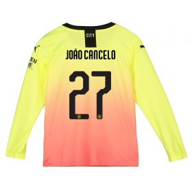 Manchester City Cup Third Shirt 2019-20 - Long Sleeve - Kids with João Cancelo 27 printing