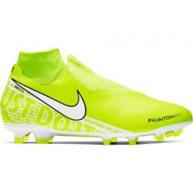 Nike Phantom VSN Pro DF Firm Ground Football Boots - Volt