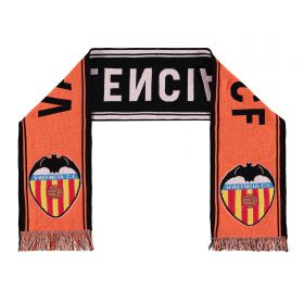 Valencia CF Core Crest Fan Scarf - Orange/Black - Adult