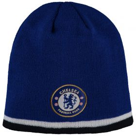 Chelsea Skull Knit Tipped Hat - Royal - Adult