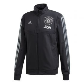 Manchester United Cup Training Presentation Jacket - Grey