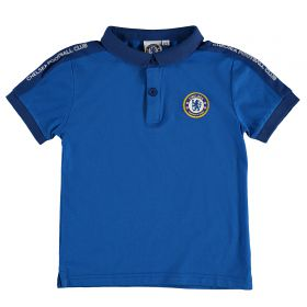 Chelsea Cut and Sew Polo - Blue - Infant