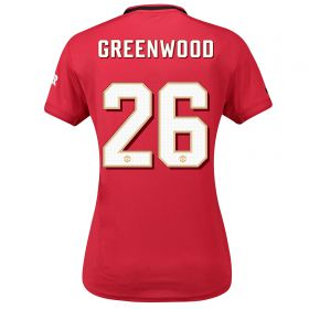 Manchester United Cup Home Shirt 2019 - 20 - Womens with Greenwood 26 printing