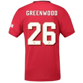 Manchester United Cup Home Shirt 2019 - 20 with Greenwood 26 printing