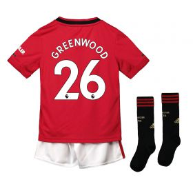 Manchester United Home Mini Kit 2019 - 20 with Greenwood 26 printing